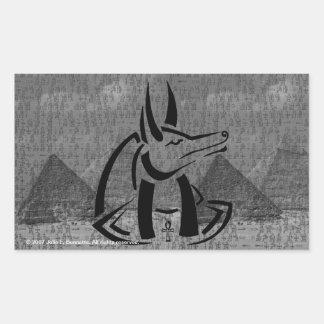 Anubisの長方形のステッカー 長方形シール
