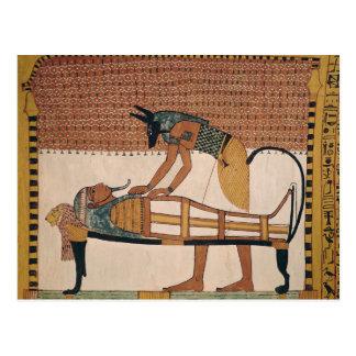 AnubisはSennedjemのミイラに出席します ポストカード