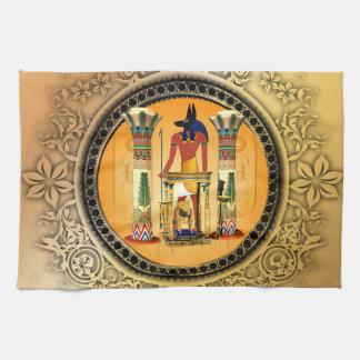Anubisエジプトの神 キッチンタオル