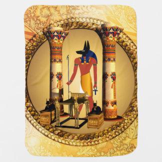 Anubisエジプトの神 ベビー ブランケット