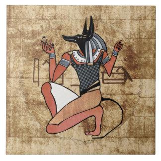 Anubis保護者のエジプト人 タイル