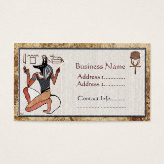 Anubis保護者のエジプト人 名刺
