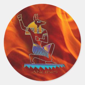 ANUBIS及び炎のエジプトの神の歴史のステッカーセット ラウンドシール