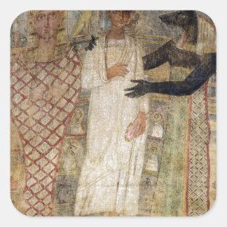 Anubis著保護される死んだのおよび彼のミイラ スクエアシール