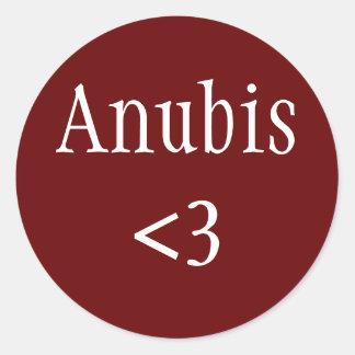 Anubis <3のステッカー ラウンドシール