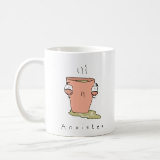 Anxietea | Funny Comic Tea Mug コーヒーマグカップ