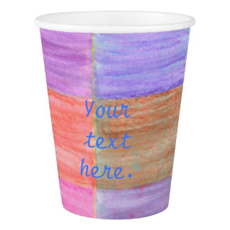 Any Occasion Colorful Blends Your Text Paper Cups 紙コップ