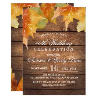 ANY YEAR - Rustic Wedding Anniversary Invitation カード