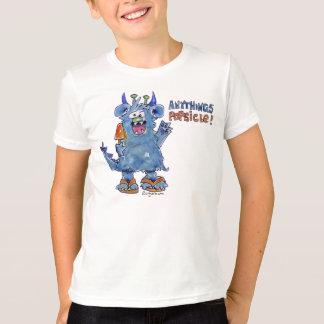 AnythingsのアイスキャンデーおもしろいなモンスターのTシャツ Tシャツ