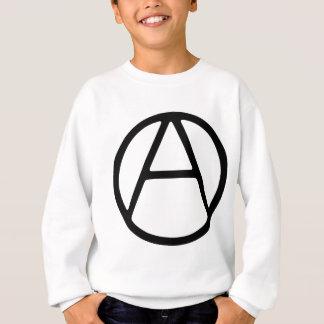 AO-OAの黒くシンプルなモノグラム スウェットシャツ