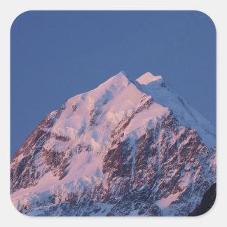 Aorakiの山の調理師のマッケンジー2、Alpenglow スクエアシール