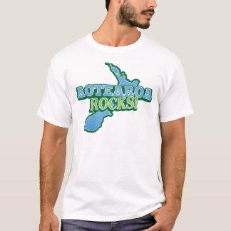 Aotearoaの石! ニュージーランドの地図 tシャツ