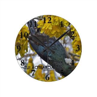 AotearoaのTui ラウンド壁時計