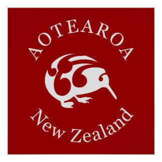 Aotearoaニュージーランドのキーウィポスター ポスター