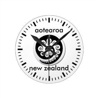 aotearoaニュージーランド12 ラウンド壁時計