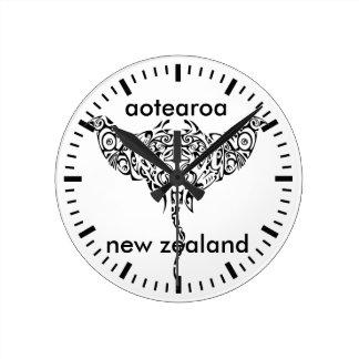 aotearoaニュージーランド15 ラウンド壁時計