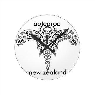 aotearoaニュージーランド7 ラウンド壁時計