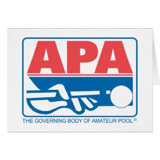 APAのオリジナルのロゴ カード