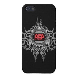 APAのテーブルのランナーの赤 iPhone SE/5/5sケース