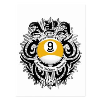 APA 9の球のゴシック様式デザイン ポストカード
