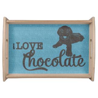 APAL -チョコレートラブラドール|の愛犬家の皿 トレー