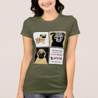 APARNの救助のパグの女性のアメリカの服装のTシャツ Tシャツ