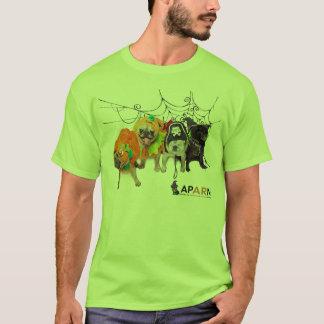 APARNハロウィンのパグの男性HanesのNano Tシャツ