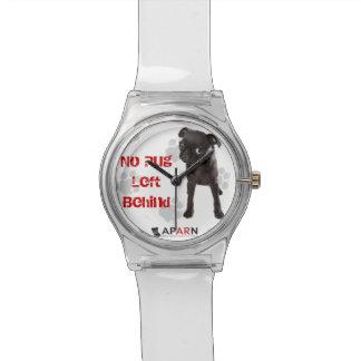 """APARN """"パグによって置き去りにされる"""" May28thの腕時計無し 腕時計"""