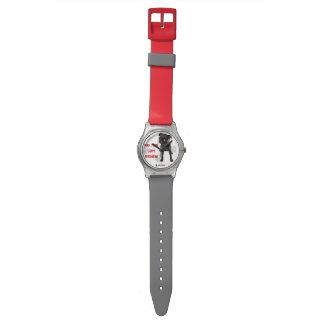 """APARN """"パグによって置き去りにされる"""" May28thの腕時計無し、赤またはGry 腕時計"""