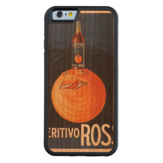 Aperitivo Rossi CarvedチェリーiPhone 6バンパーケース