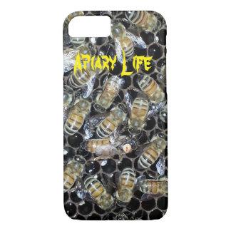 Apiaryの生命iPhone 7の場合-蜜蜂の巣の女王バチ iPhone 8/7ケース