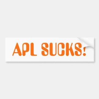 aplはバンパーステッカーを吸います バンパーステッカー