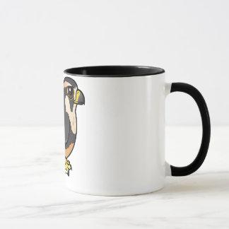 Aplomadoの《鳥》ハヤブサ マグカップ