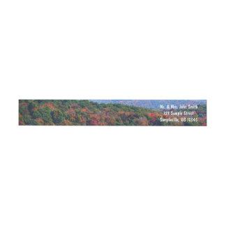 Appalachian Mountains in Fall Nature Photography ラップアラウンドラベル