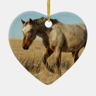 Appaloosaの馬のローンのロバ セラミックオーナメント