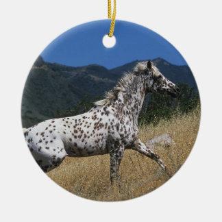Appaloosaの馬の連続した上り山 セラミックオーナメント