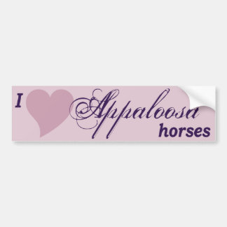 Appaloosaの馬 バンパーステッカー