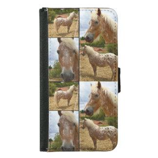 Appaloosaの馬、銀河系S5の電話財布 Galaxy S5 ウォレットケース