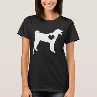 Appenzeller Sennenhundのハートの暗闇のTシャツ Tシャツ