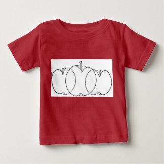 Appleおよびナシのフルーツのculturistの線画1903年 ベビーTシャツ