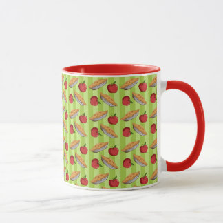 Appleおよびパイパターン マグカップ