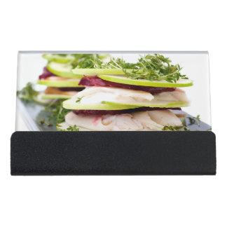 Appleおよびマスの前菜 デスク名刺ホルダー