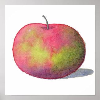 Appleのかわいく赤い絵画 ポスター