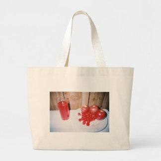 Appleのさくらんぼのラズベリーのバッグ ラージトートバッグ