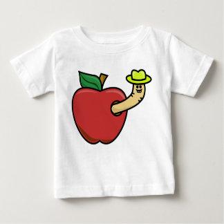 Appleのみみず ベビーTシャツ
