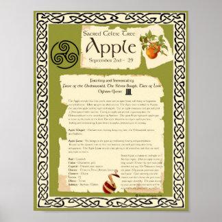 APPLEのケルト人の神聖な木 ポスター