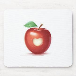 Appleのハート マウスパッド