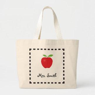 Appleの先生のキャンバスのバッグ ラージトートバッグ