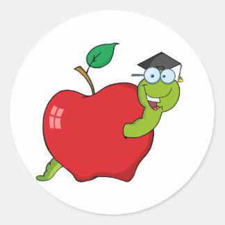 Appleの幸せな大学院みみず ラウンドシール