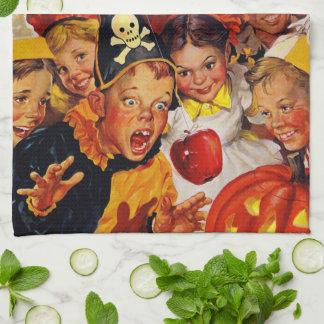 Appleの振れる危険-ハロウィンのおもしろいな装飾 キッチンタオル